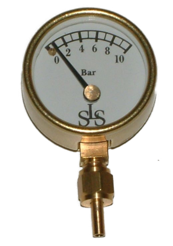 Ø 25 mm Manometer 0 - 10 bar